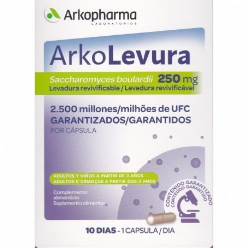 Arko-levura saccharomyces boulardii (250 mg 10 caps)