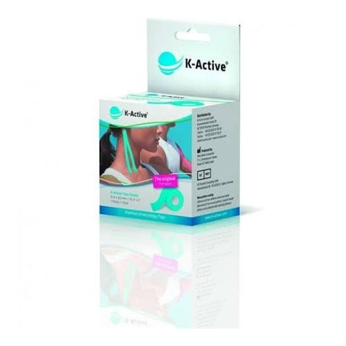K-active kinesiology tape - vendaje muscular (azul 5 m x 5 cm)