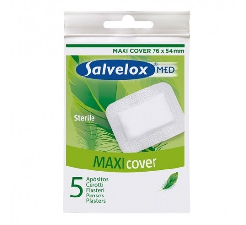 Salvelox med maxi cover - aposito esteril (5 apositos 76 mm x 54 mm)