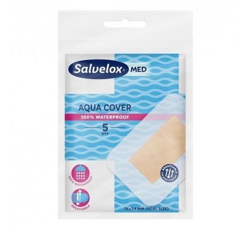 Salvelox med aqua cover - aposito adhesivo (5 apositos 76 mm x 54 mm)