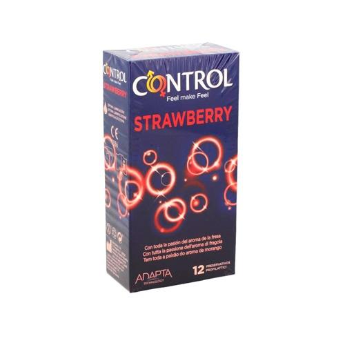 Control strawberry - preservativos (12 u)