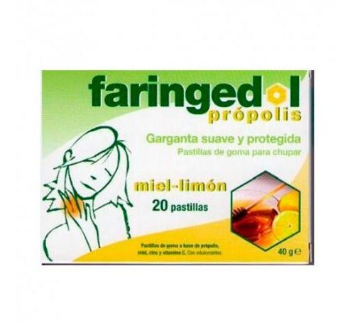 Faringedol pastillas de goma (20 g miel limon 20 u)