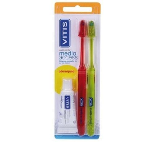 Cepillo dental adulto - vitis access (medio blister 2 u)