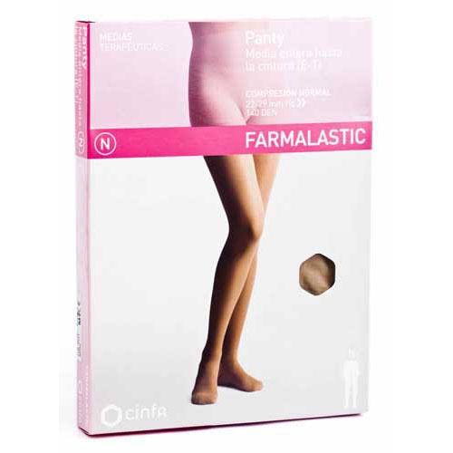Panty comp normal 140 den - farmalastic (beige t- reina plus)