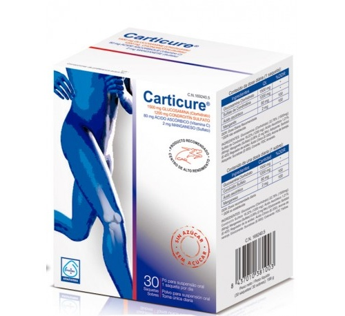 Carticure polvo para suspension oral - condroitina + glucosamina (30 sobres)