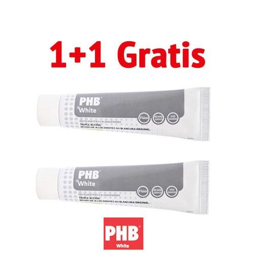 Phb white duplo pasta dentifrica (100 ml 2 tubos)