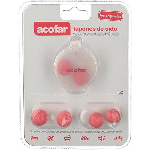 Tapones oidos cera y resinas sinteticas - acofarma (6 u)