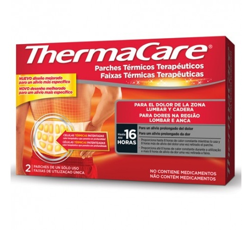 Thermacare parche termico zona lumbar cadera (2 parches)