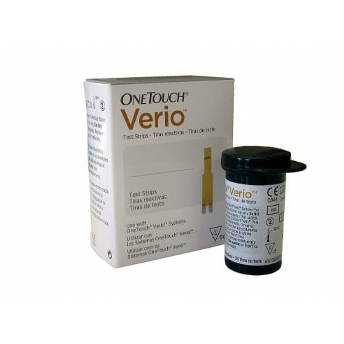 Tiras reactivas glucemia - onetouch verio (25 u)