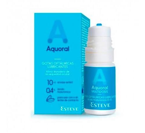 Aquoral gotas humectantes c/ a hialuronico 0.4% - gotas oftalmicas lubricantes esteriles (multidosis