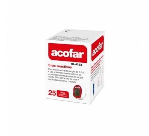 Tiras reactivas glucemia - acofar (25 tiras)