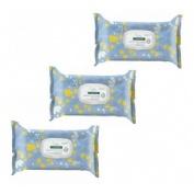 Klorane bebe toallitas limpiadoras suaves - leche de toilette (pack duo 70 toallitas 2 paquetes)