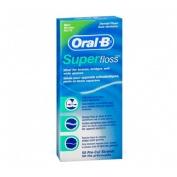 Oral-b superfloss - seda dental (menta 50 u)