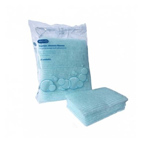 Alvita esponjas jabonosas monouso (24 unidades)