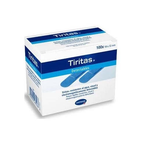 Tiritas detectables - aposito adhesivo (100 unidades 72 mm x 19 mm)